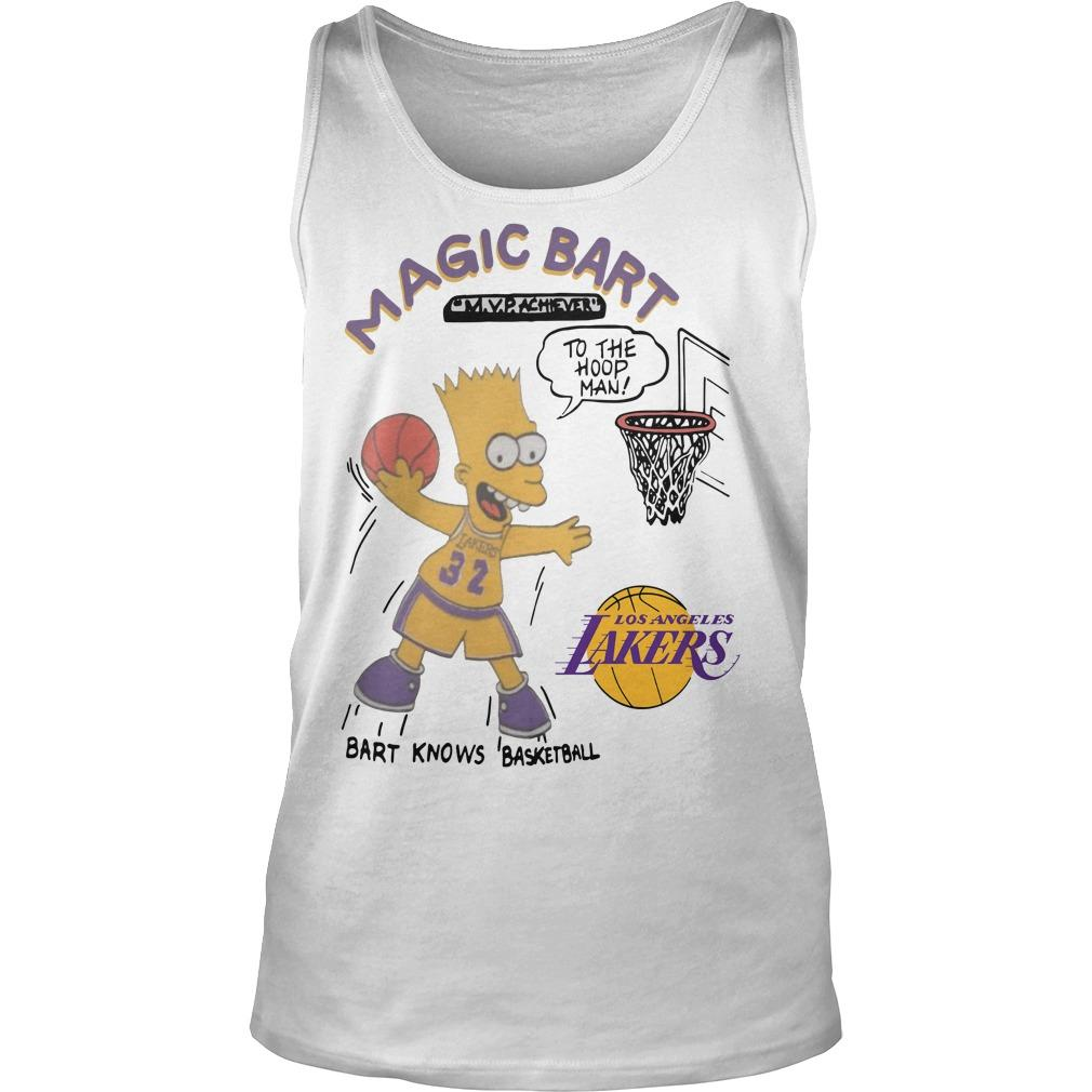 Lakers Magic T Bart Simpson Tank Top