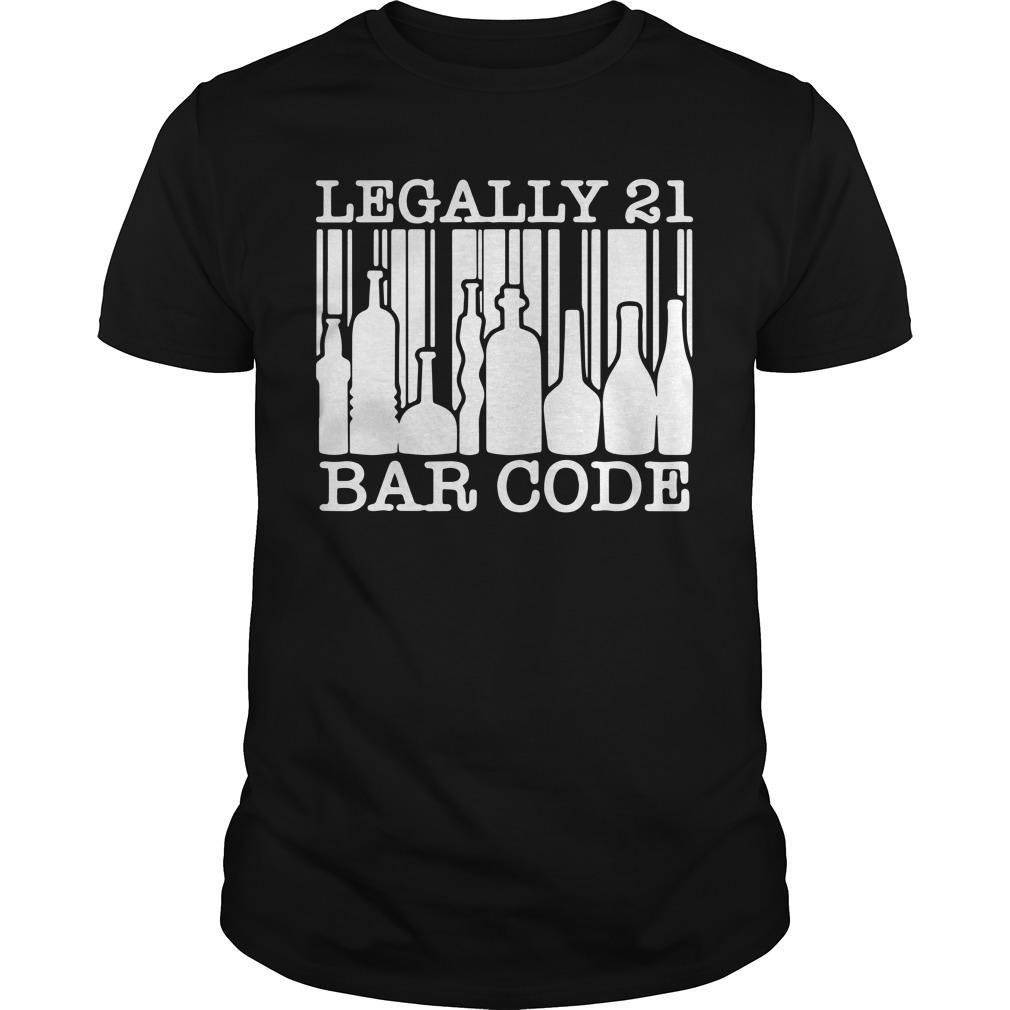 Legally 21 Bar Code Longsleeve