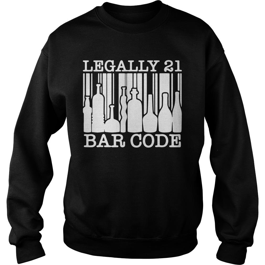 Legally 21 Bar Code Sweater