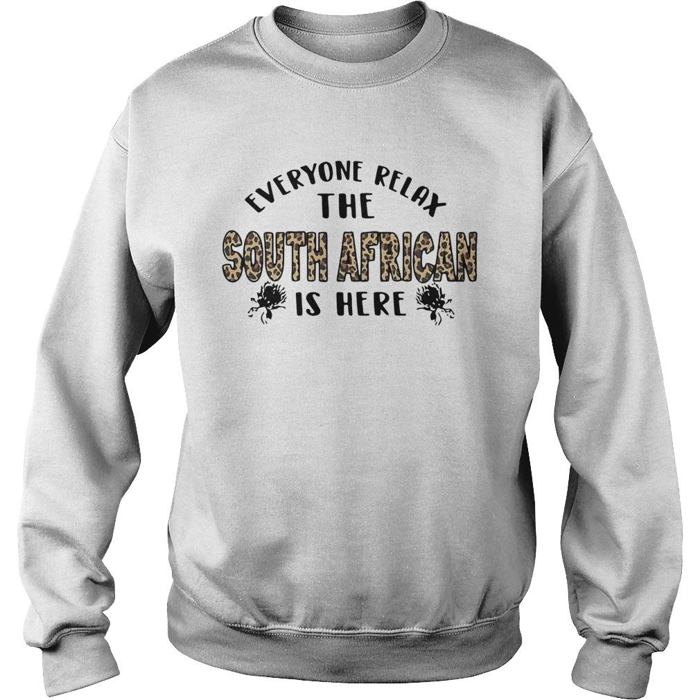 Leopard Everyone Relax The South African Is Here Sweater
