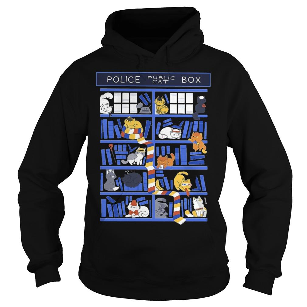 Library Police Box Public Cat Hoodie