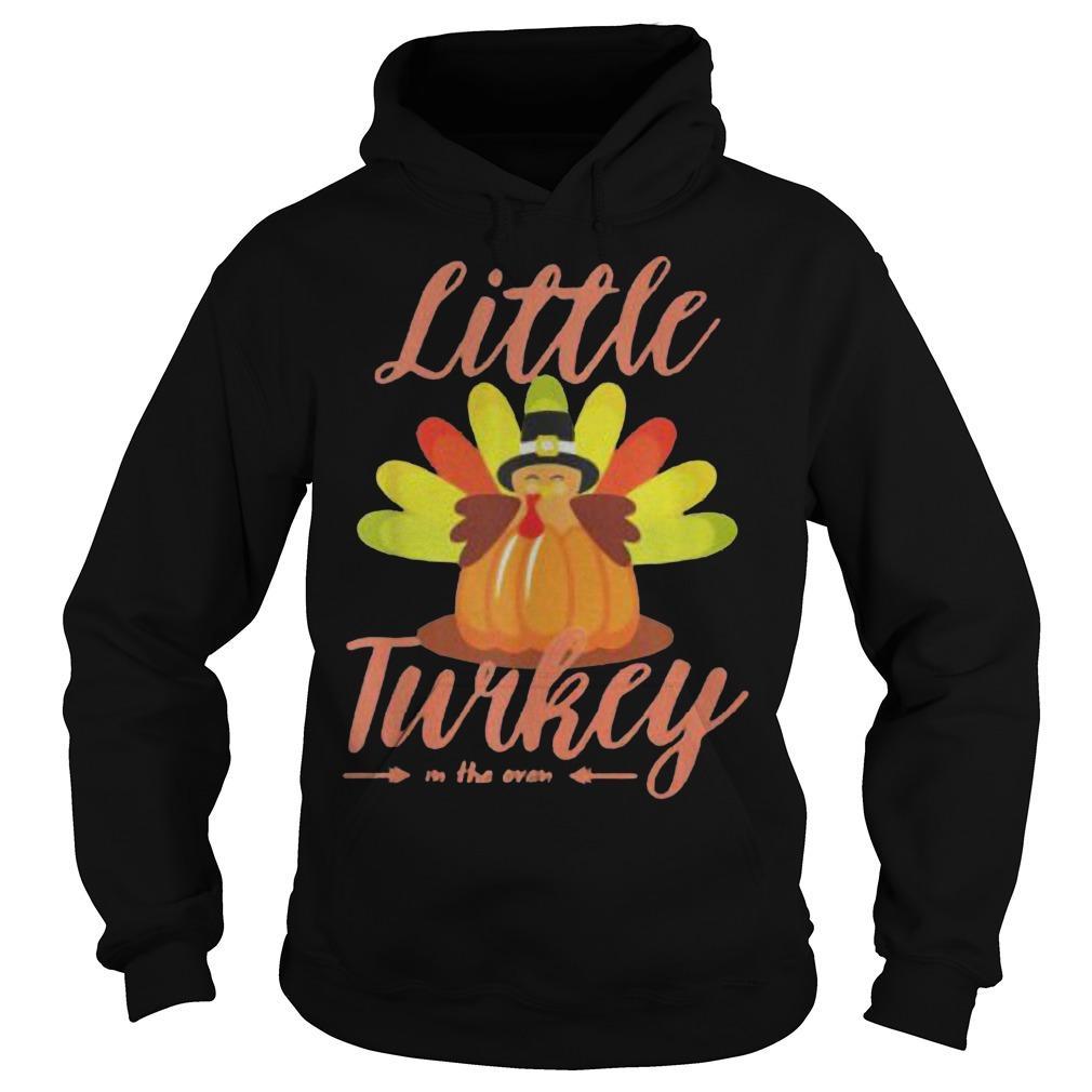 Little Turkey Thanksgiving Pregnancy Hoodie