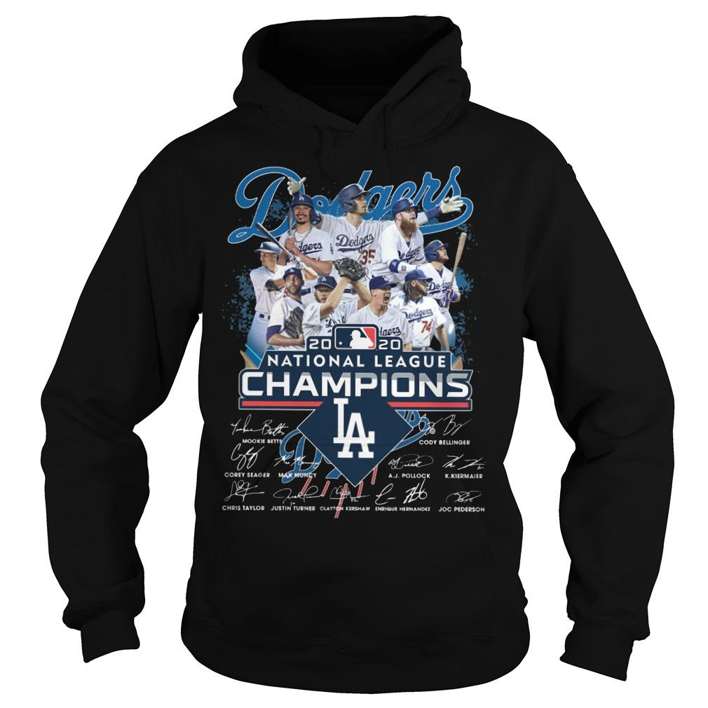 Los Angeles Dodgers 2020 National League Champions Hoodie