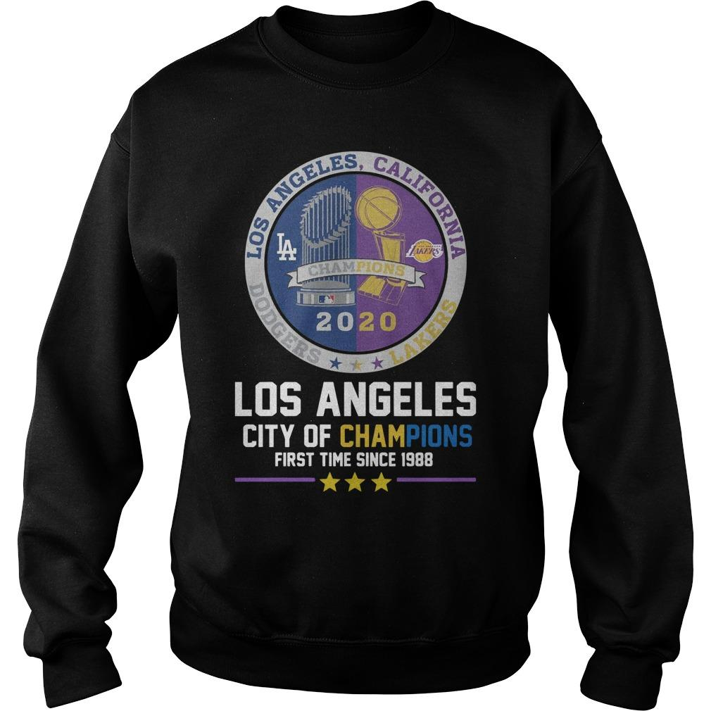 Los Angeles Dodgers California Lakers City Of Champions Sweater