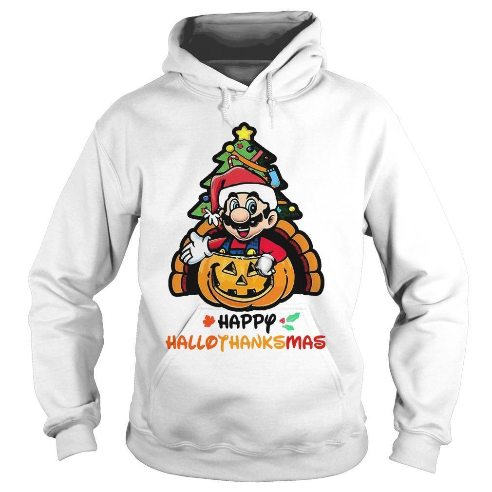 Mario Happy Hallothanksmas Hoodie