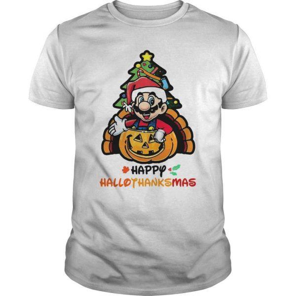 Mario Happy Hallothanksmas Shirt