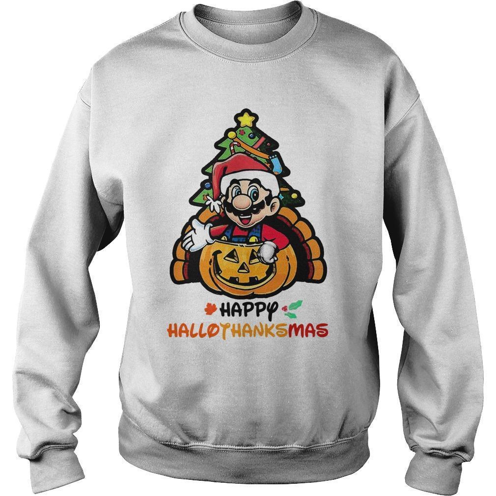 Mario Happy Hallothanksmas Sweater