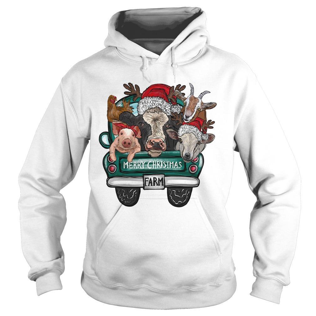 Merry Christmas Farm Hoodie