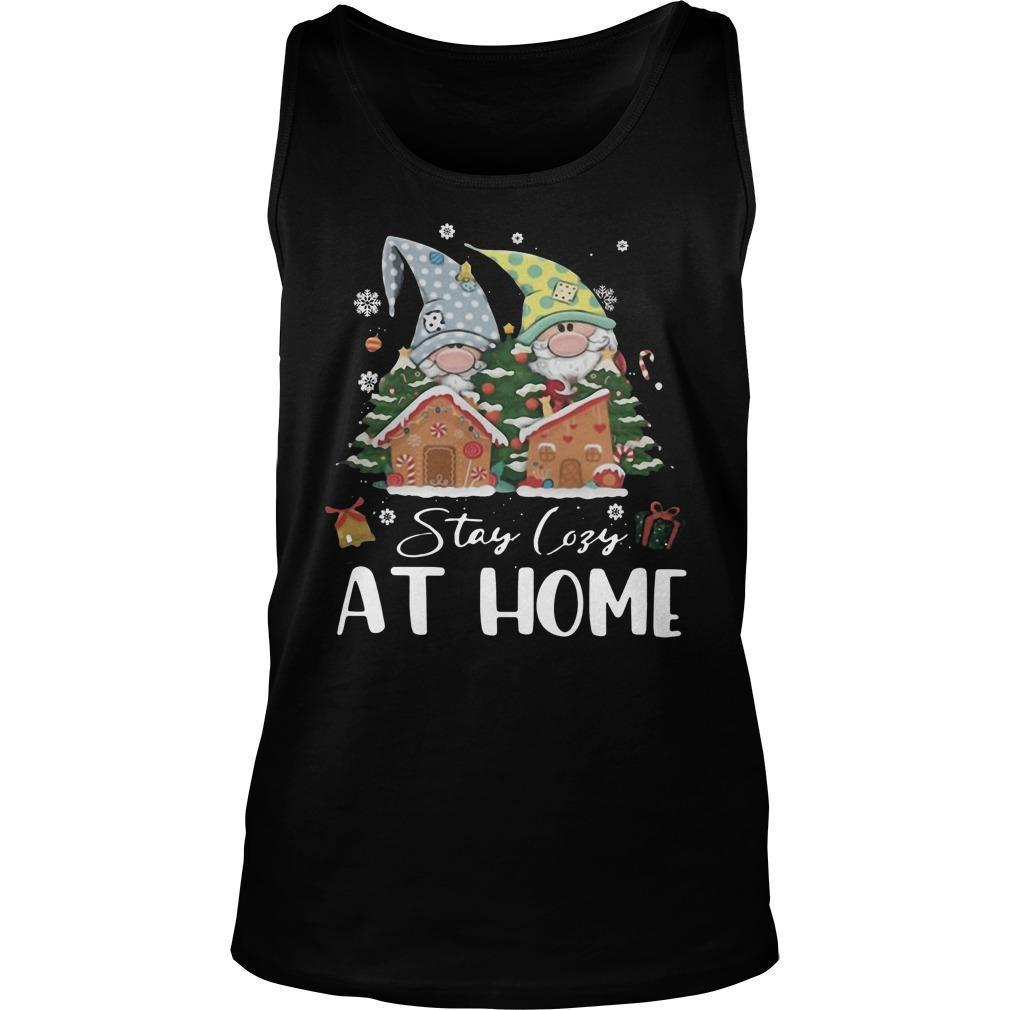 Merry Christmas Gnomies Stay Cosy At Home Tank Top