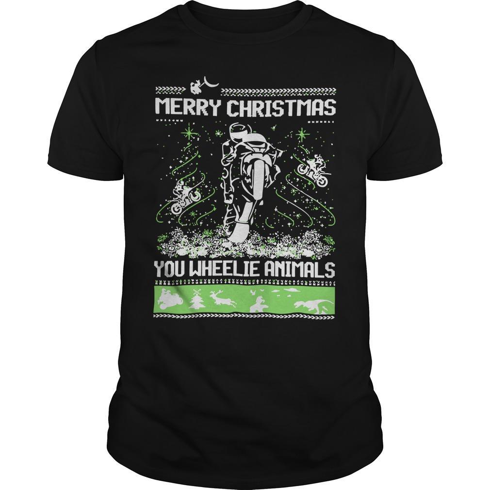 Merry Christmas You Wheelie Animals Longsleeve