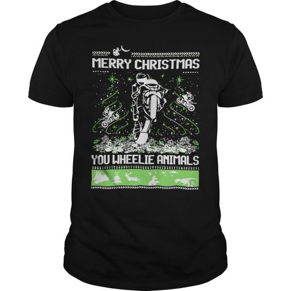 Merry Christmas You Wheelie Animals Shirt