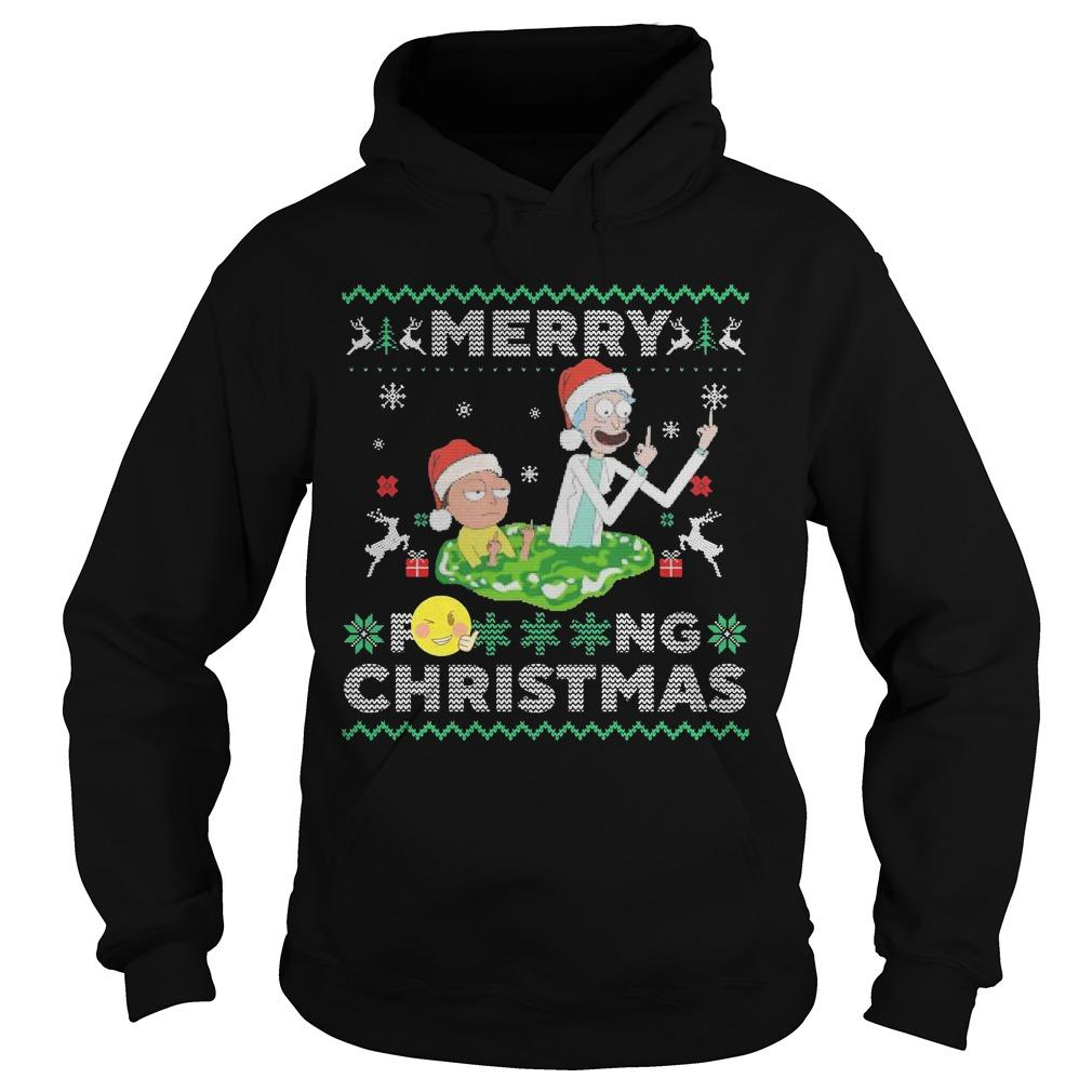 Merry Fucking Christmas Rick And Morty T Hoodie