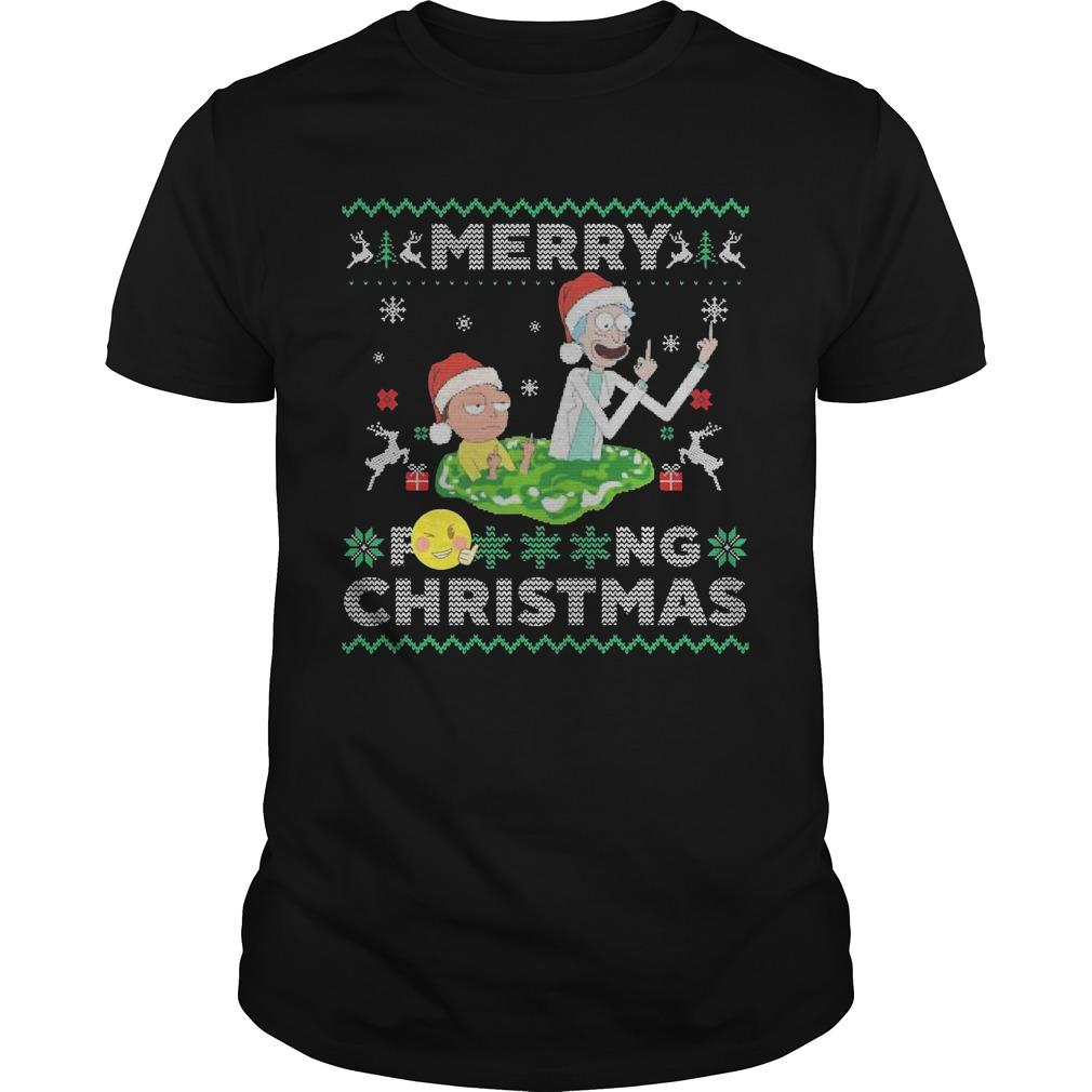 Merry Fucking Christmas Rick And Morty T Longsleeve