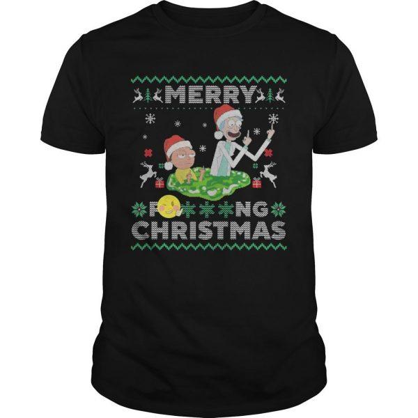 Merry Fucking Christmas Rick And Morty T Shirt