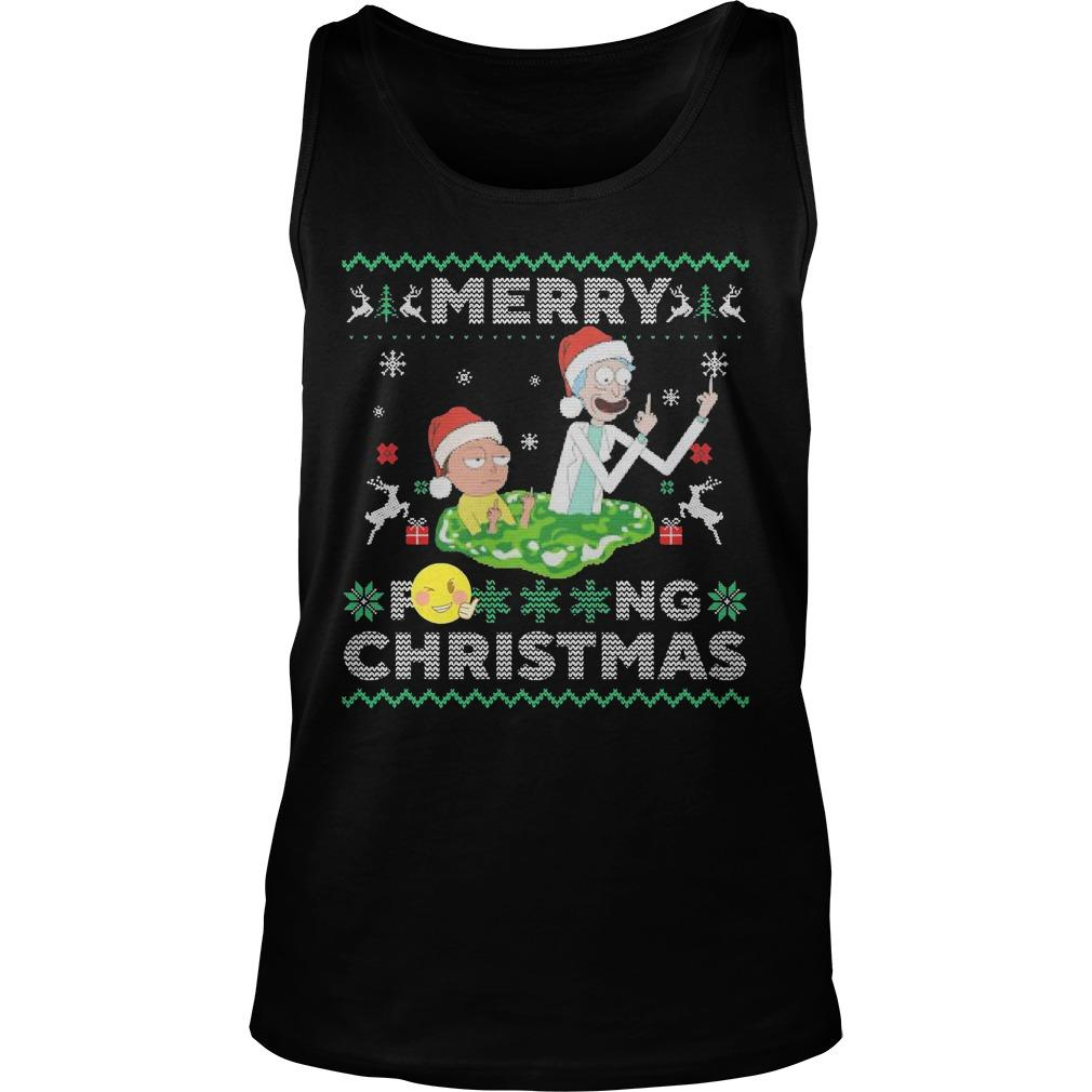 Merry Fucking Christmas Rick And Morty T Tank Top