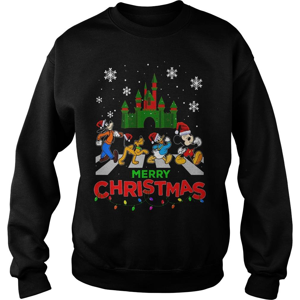 Mickey Mouse Walking Abbey Road Merry Christmas Sweater