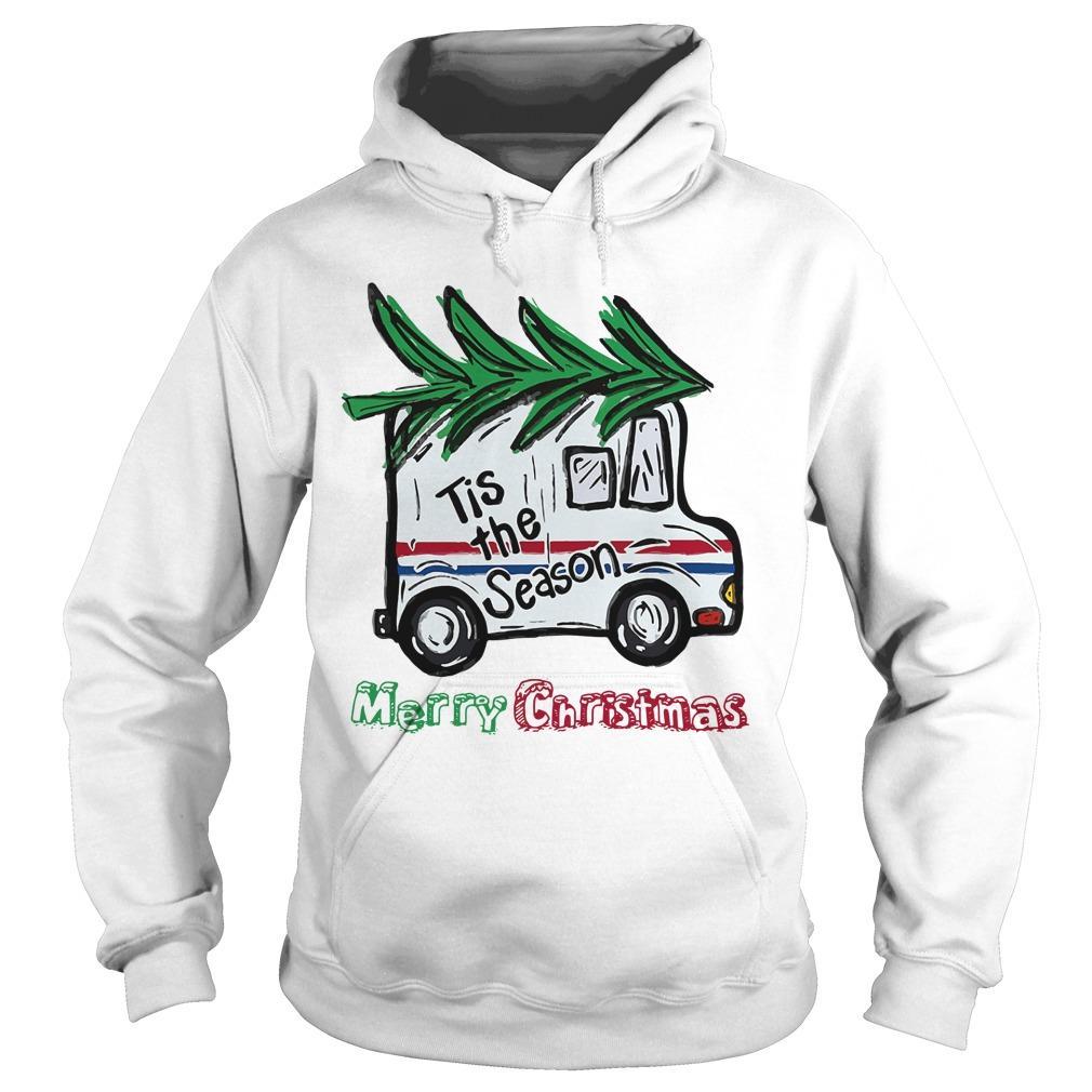 Postal Car Tis The Season Merry Christmas Hoodie