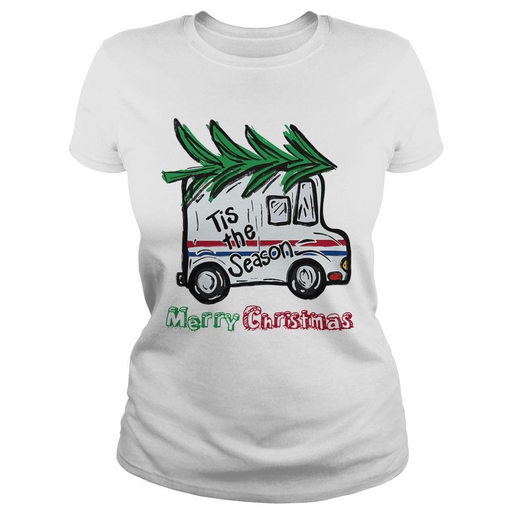 Postal Car Tis The Season Merry Christmas Longsleeve
