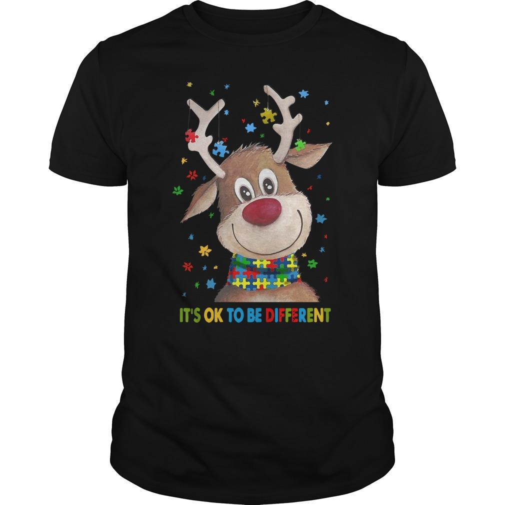 Reindeer It's Ok To Be Different Longsleeve