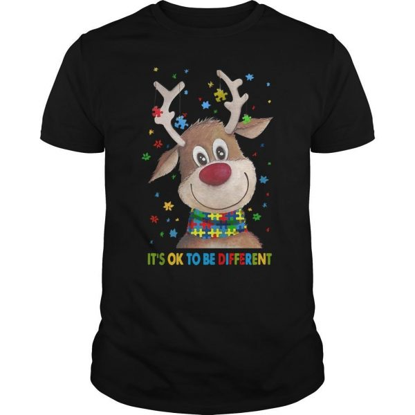 Reindeer It's Ok To Be Different Shirt