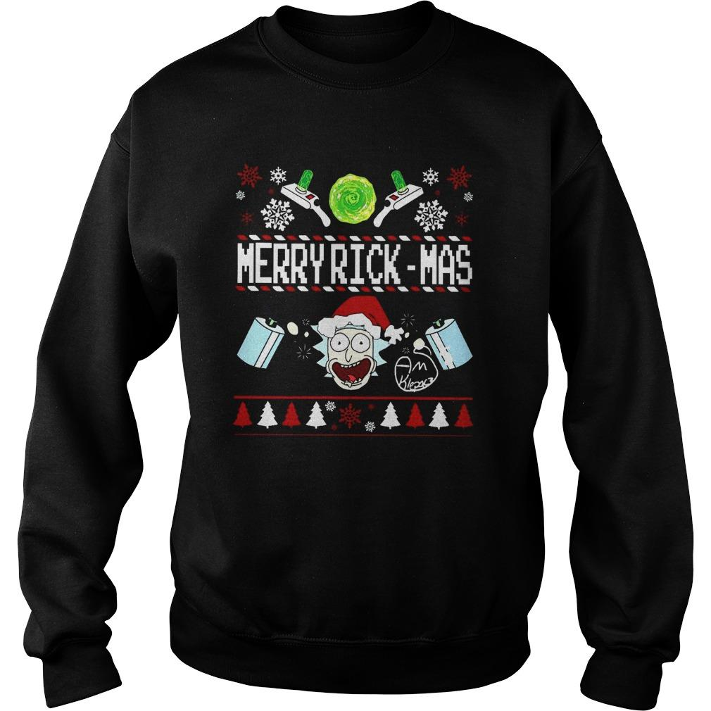 Rick And Morty Merry Rickmas Sweater