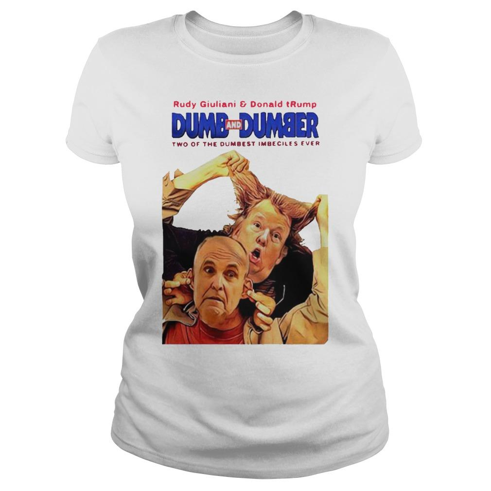 Rudy Giuliani And Donald Trump Dumb And Dumber Longsleeve