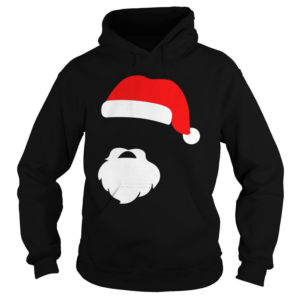 Santa Face Beard Silhouette Gift Hoodie