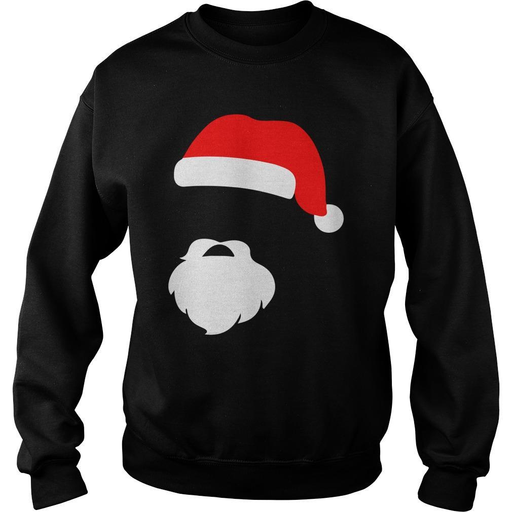 Santa Face Beard Silhouette Gift Sweater