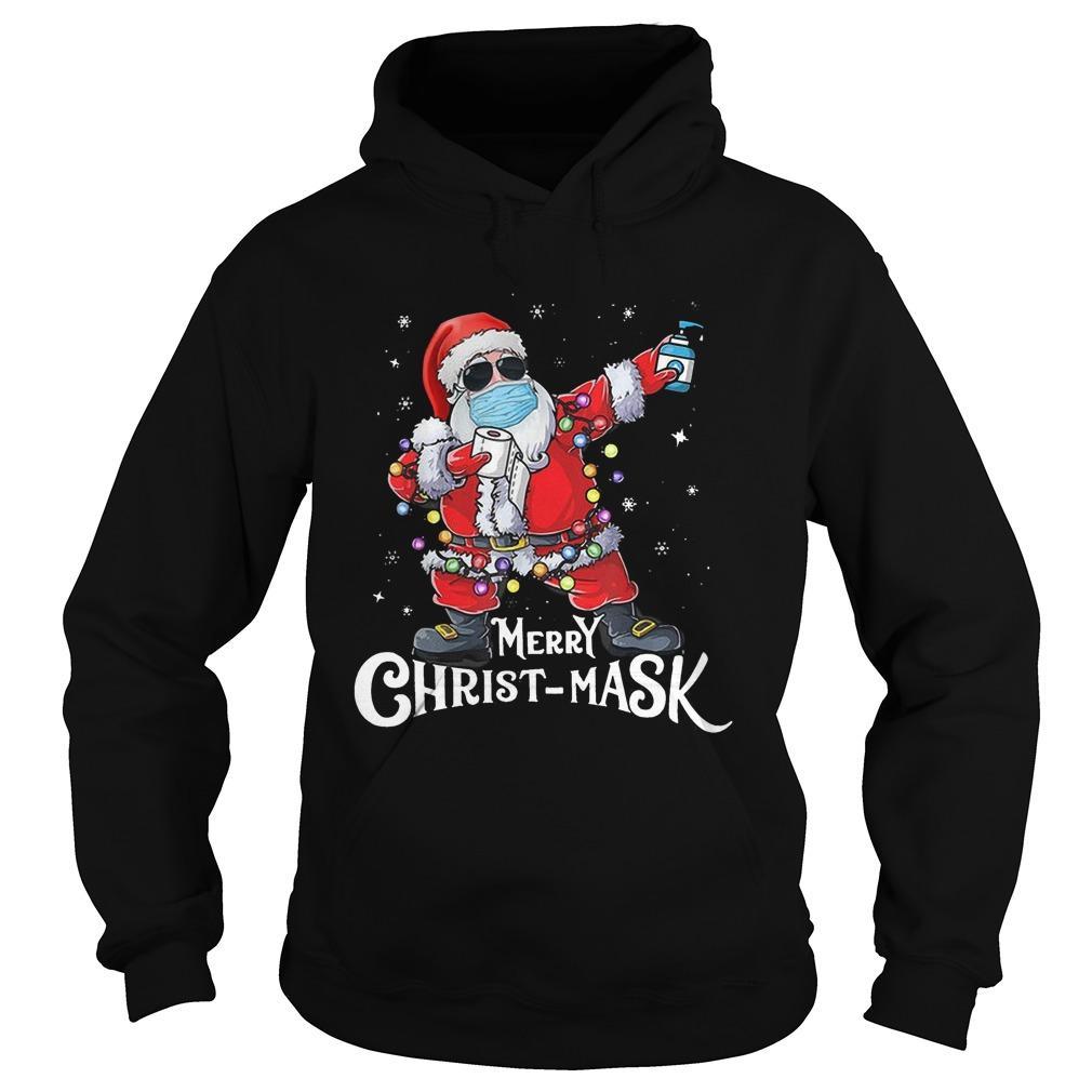 Santa Merry Christ Mask Hoodie