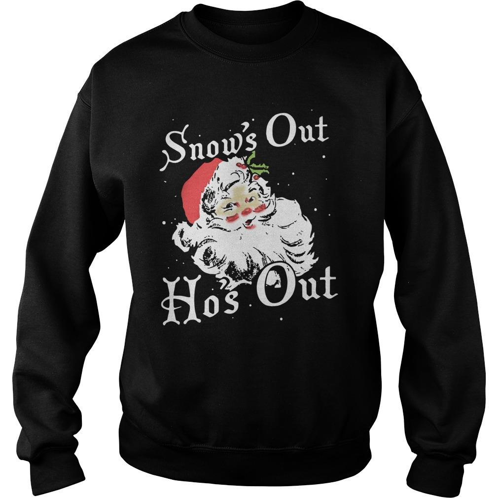Santa Snow's Out Ho's Out Sweater
