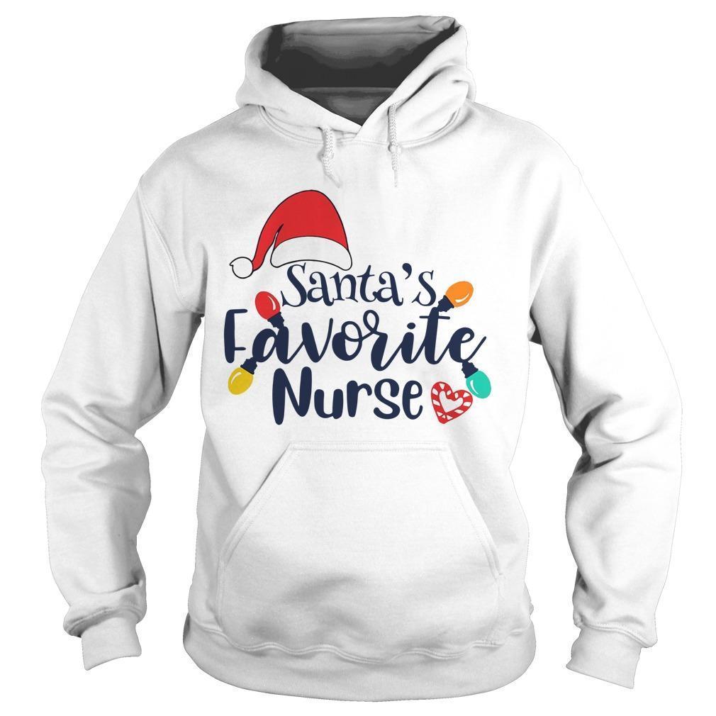 Santa's Favorite Nurse Hoodie