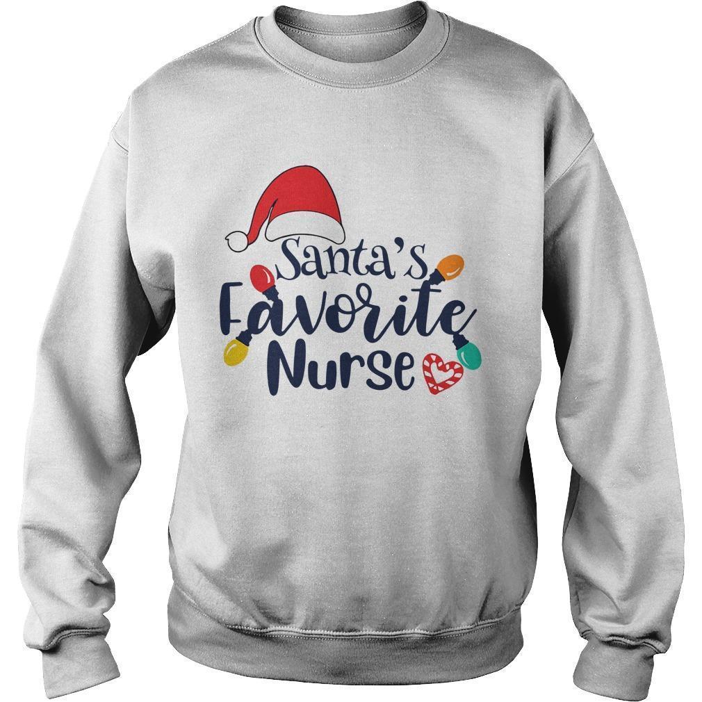 Santa's Favorite Nurse Sweater