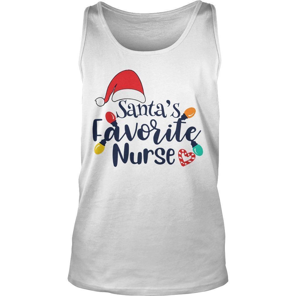 Santa's Favorite Nurse Tank Top