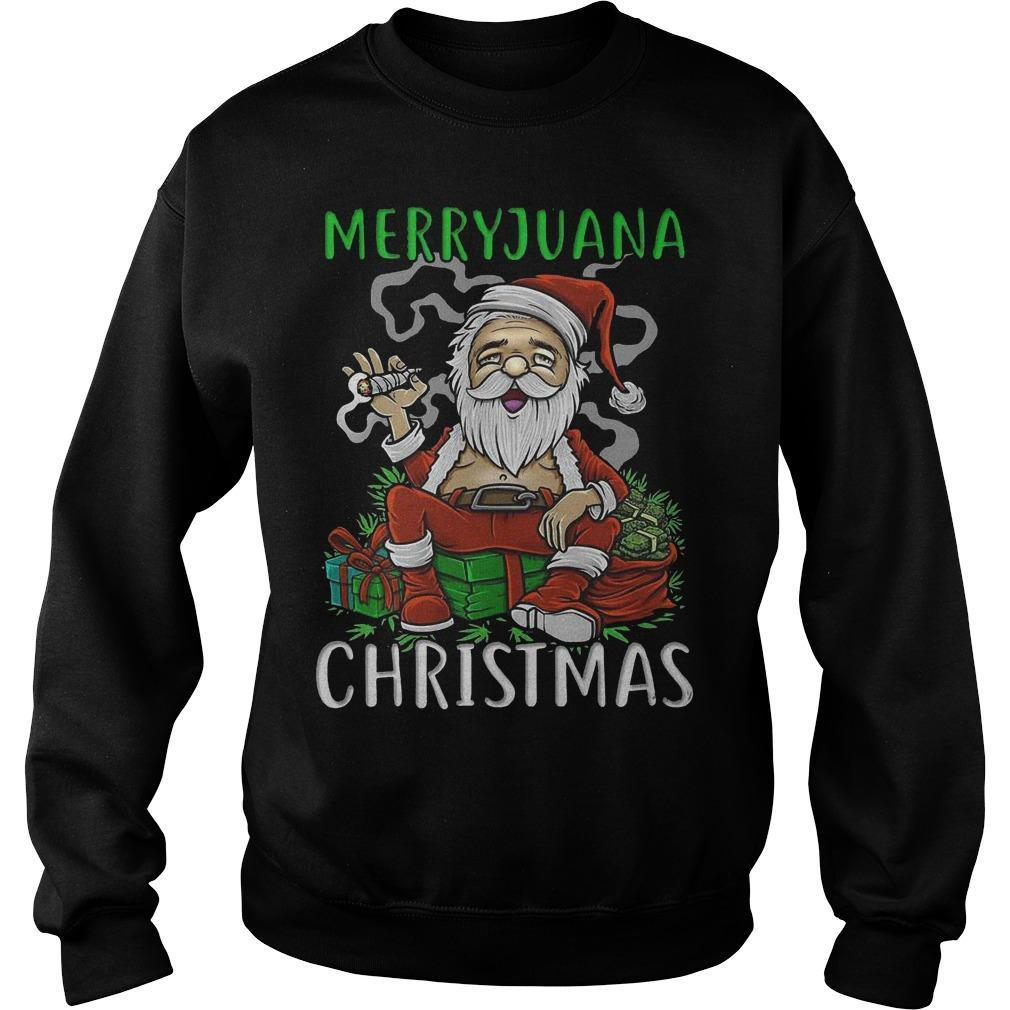 Satan Claus Marijuana Christmas Sweater