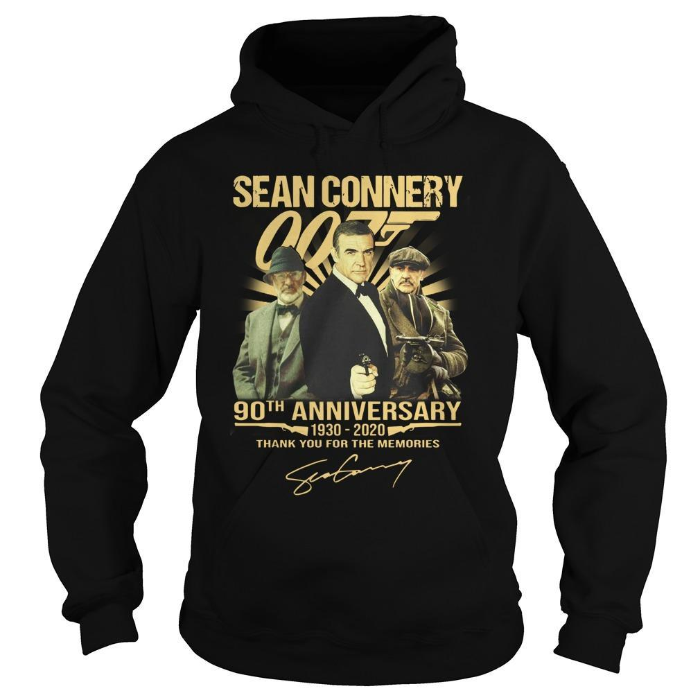Sean Connery 90th Anniversary Thank You For The Memories Hoodie