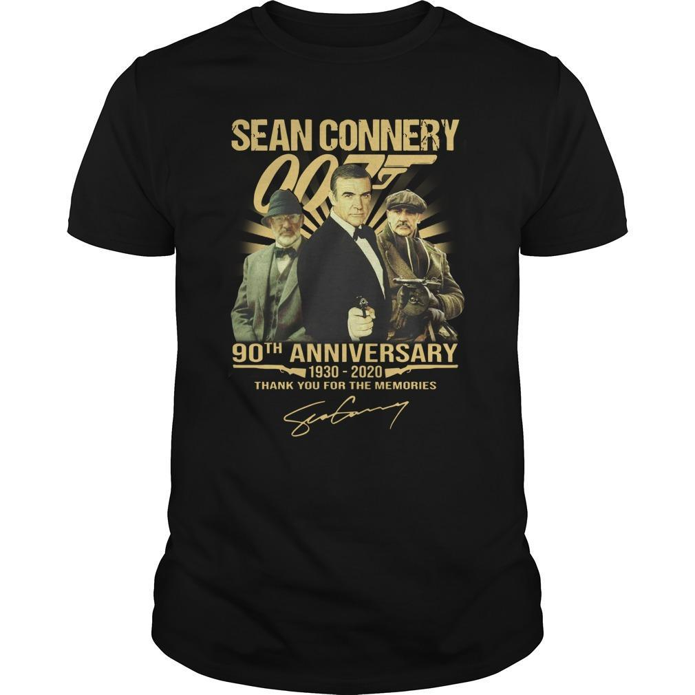 Sean Connery 90th Anniversary Thank You For The Memories Longsleeve