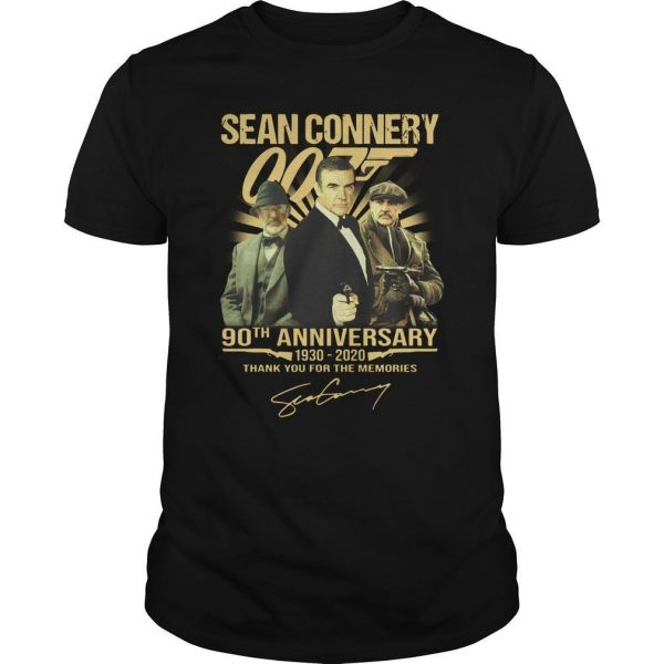 Sean Connery 90th Anniversary Thank You For The Memories Shirt