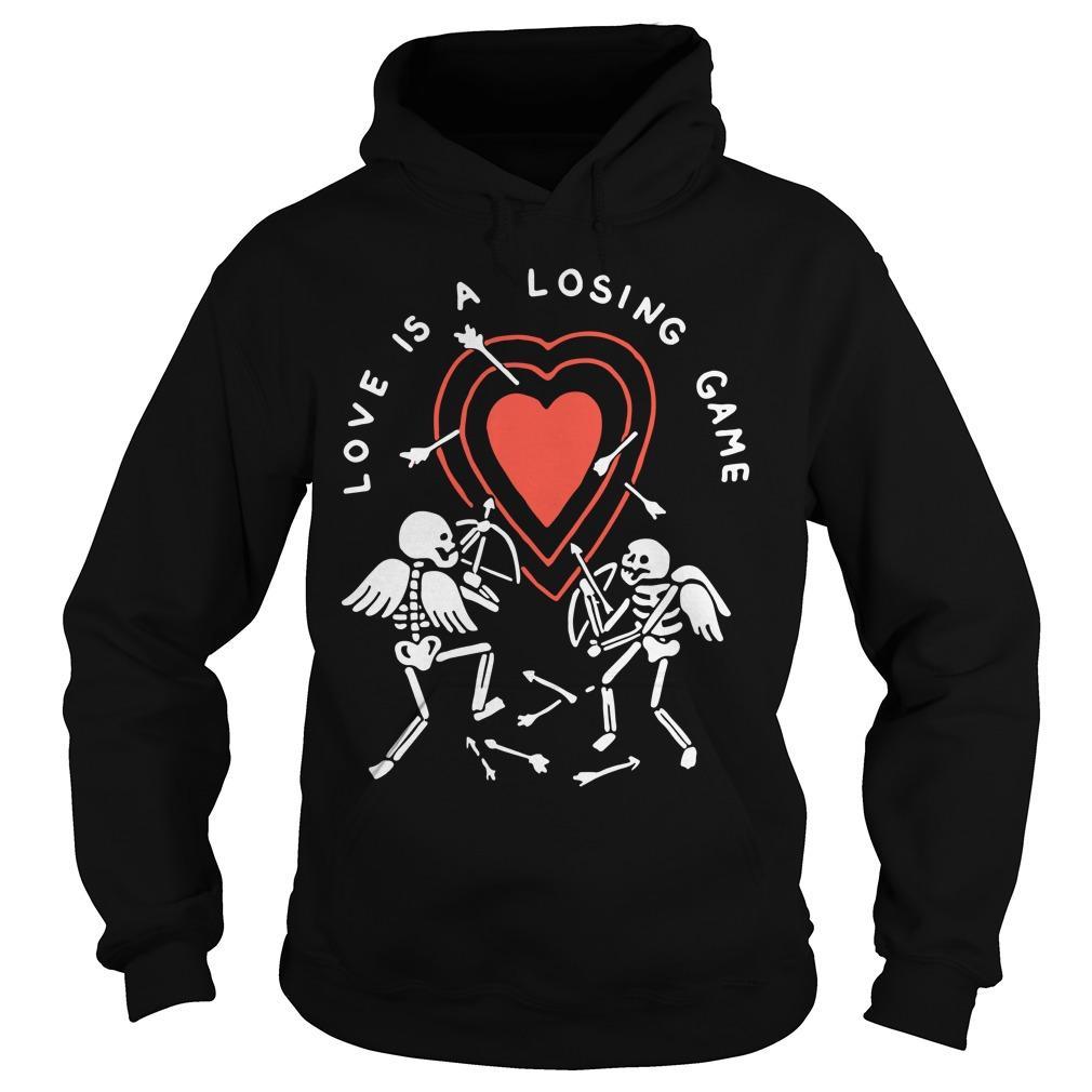 Skeleton Love Is A Losing Game Hoodie