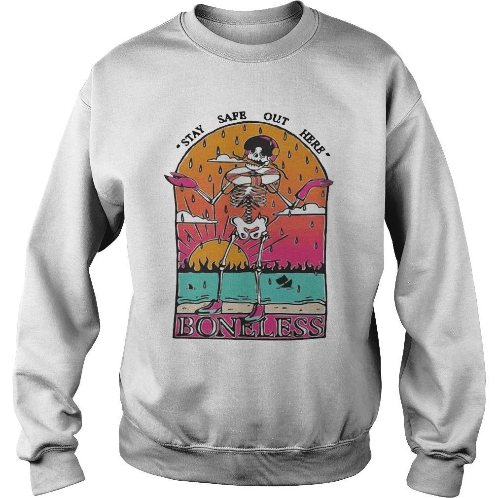 Skeleton Stay Safe Out Here Boneless Sweater