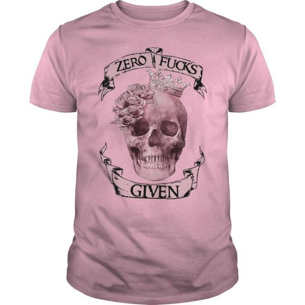 Skull Zero Fuck Given Shirt