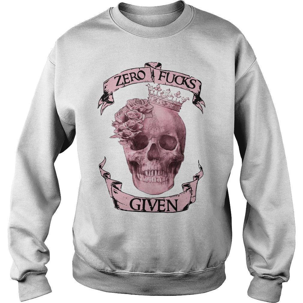 Skull Zero Fuck Given Sweater