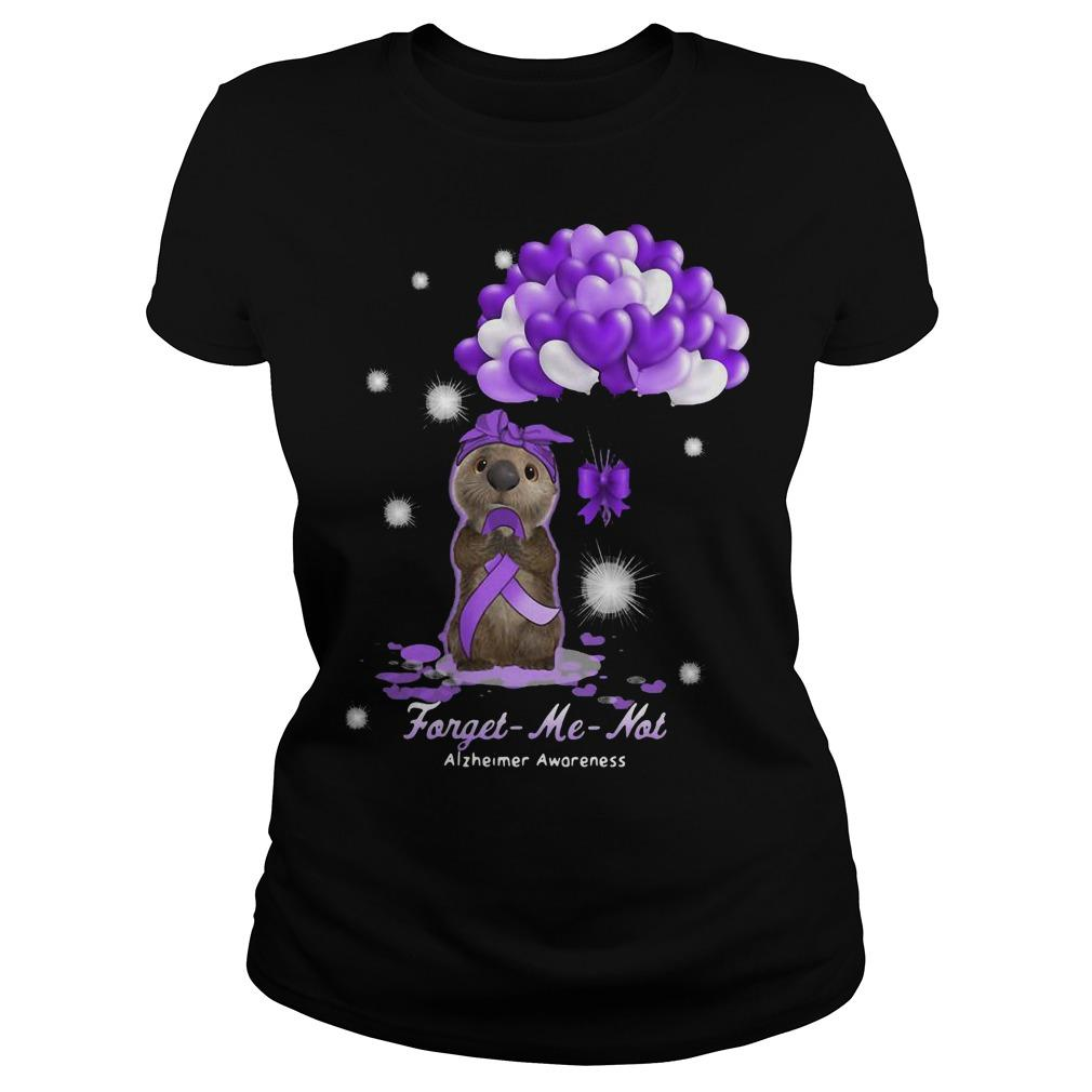 Sloth Forget Me Not Alzheimer Awareness Longsleeve