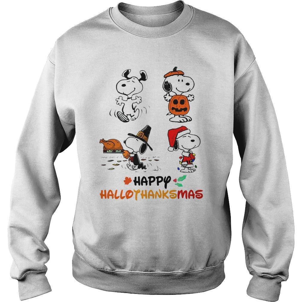 Snoopy Happy Hallothanksmas Sweater