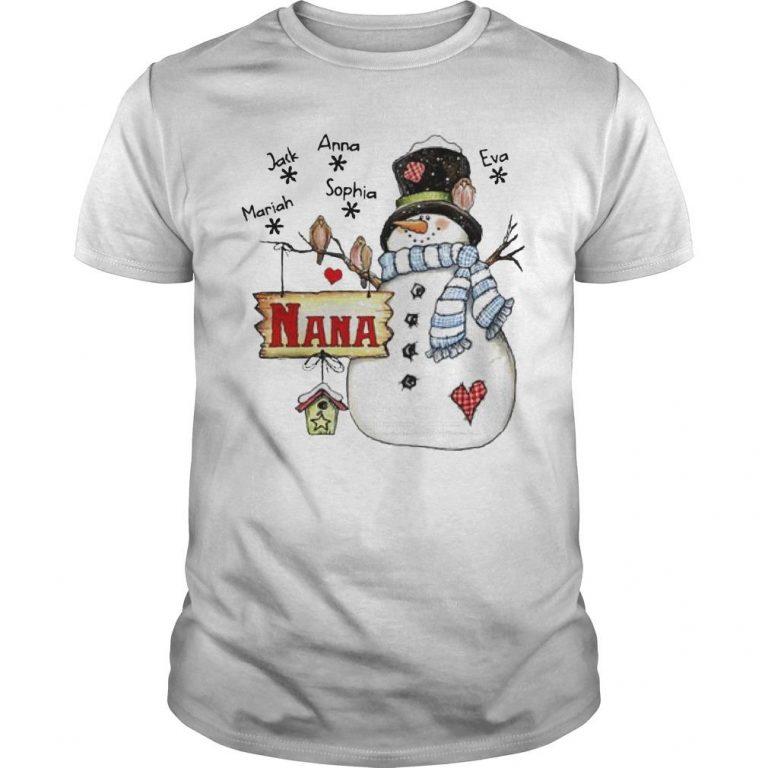 Snowman Nana Mariah Jack Anna Sophia Eva Shirt