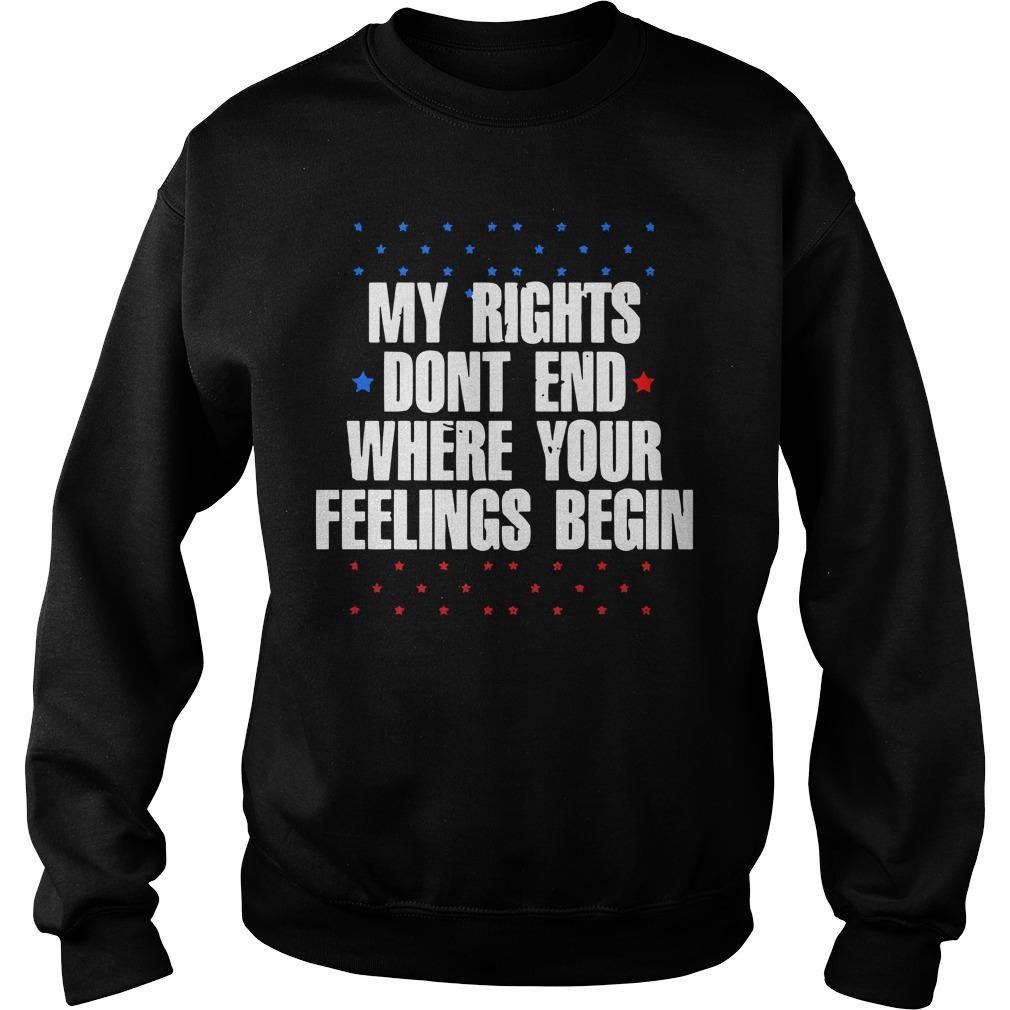 Star My Rights Don't End Where Your Feelings Begin Sweater