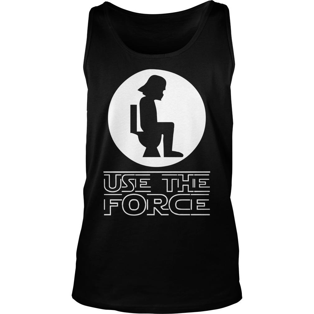 Star Wars Darth Vader Toilet Use The Force Tank Top
