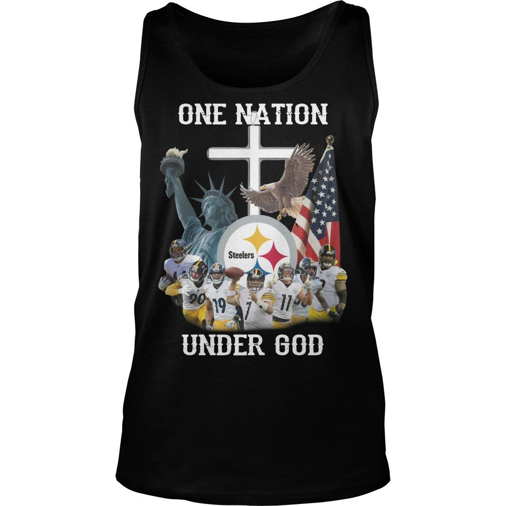 Steelers One Nation Under God Tank Top
