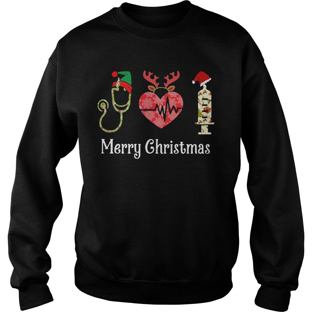 Stethoscope Heart Merry Christmas Sweater