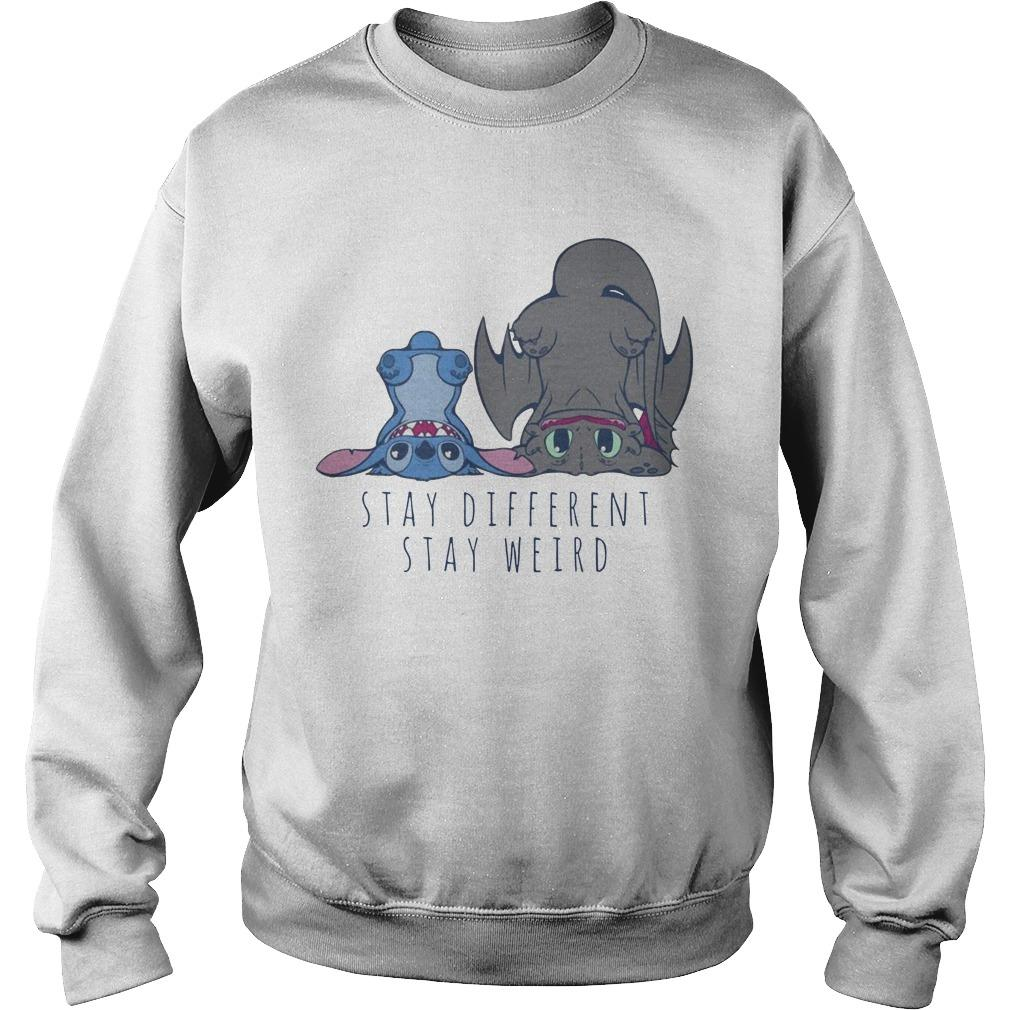 Stitch And Toothless Stay Different Stay Weird Sweater