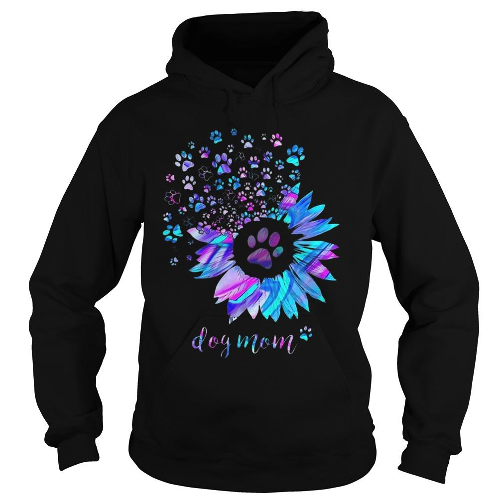 Sunflower Dog Paws Dog Mom Hoodie